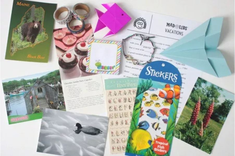 add a little gift to penpals letters
