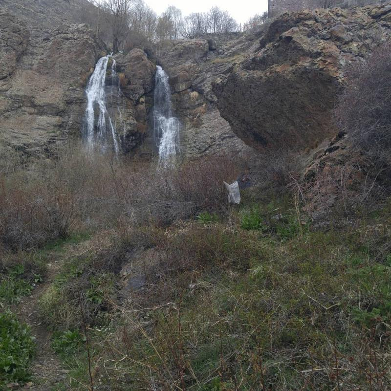 Darband twin waterfal