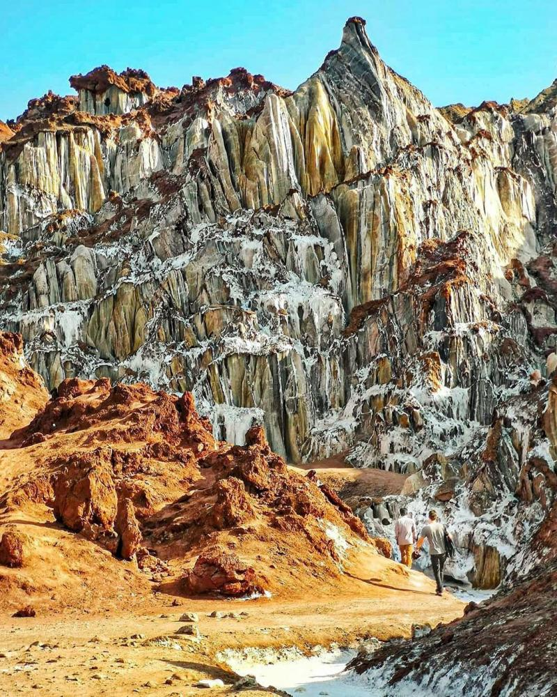 Travel to Salt Mountain of Hormoz Island in Iran