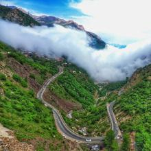 Wonderful places in iran , Chalous Road