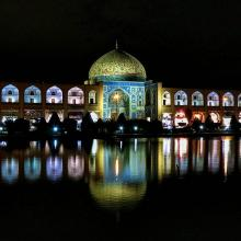 Naqsh e Jahan Square night , Sheikh Lotfollah Mosque