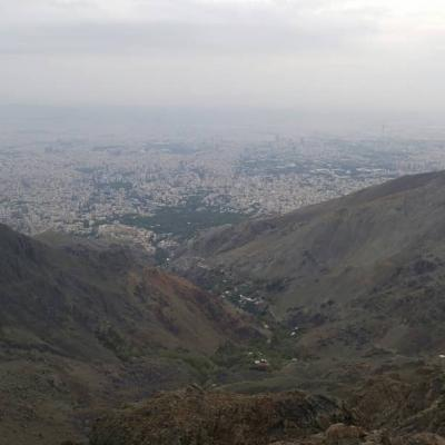 Tehran view frim darband mountains