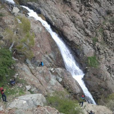 Darband waterfall in alborz mountains , north tehran