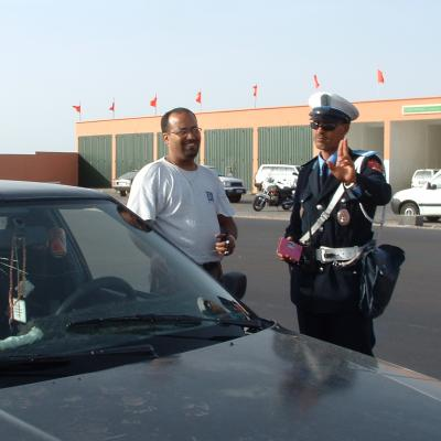 Caught speeding by the cops, Laayoune