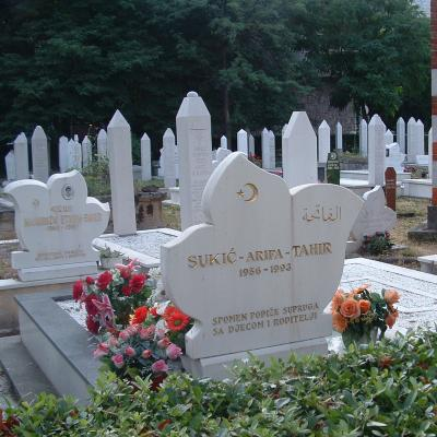 Intra-city fighting victims' cemetery in Mostar