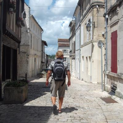 Walking in the streets of Cognac