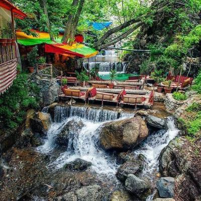 Travel to darband in north of Tehran in Iran