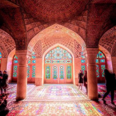 Travel to pink mosque or Nasir AlMulk Mosque of Shiraz