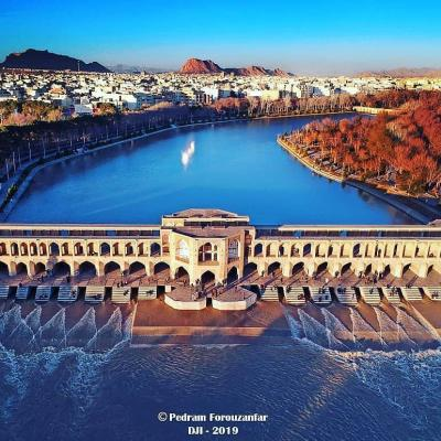 Travel to visit Khaju historical Bridge in Isfahan Iran