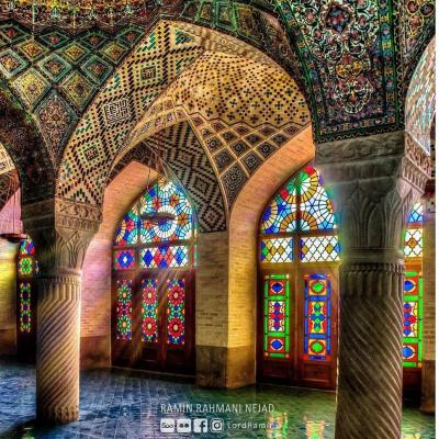 Where is Masjed Nasir Al Molk or Pink Mosque ?