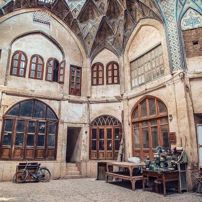 Travel To Kashan historical Bazar in Isfahan Iran