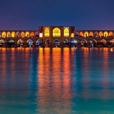 Khajoo Bridge of Isfahan in Iran