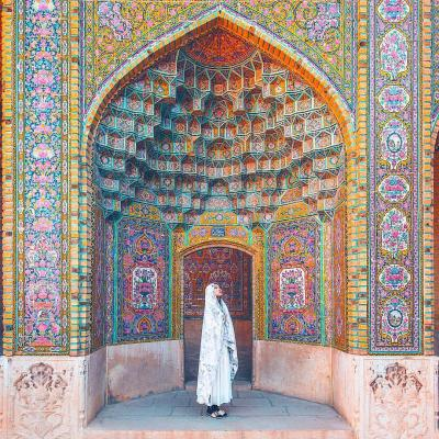 Pink Mosque Or Nasir Al molk Mosque in Shiraz